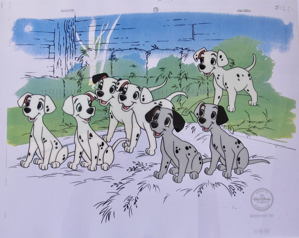 DISNEY 101 Dalmatians HOPEFUL PUPS Limited Edition Sericel Animation Art Cel