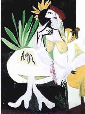 #102 GREEN LEAVES WITH NUDE Pablo Picasso Estate Signed Giclee