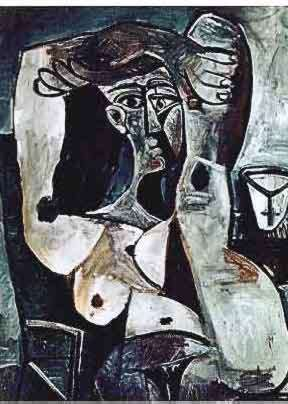 #144 WOMAN WITH ARM AND LEG OVER HEAD Pablo Picasso Estate Signed Giclee