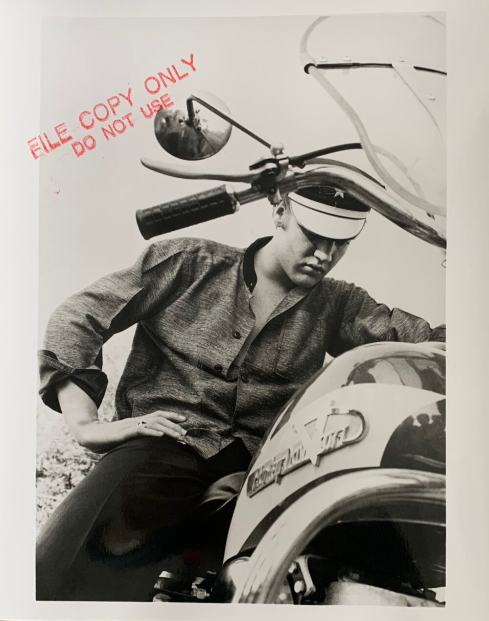 "Alfred Wertheimer ELVIS PRESLEY ON HARLEY 8""X10"" Silver Gelatin Photo"