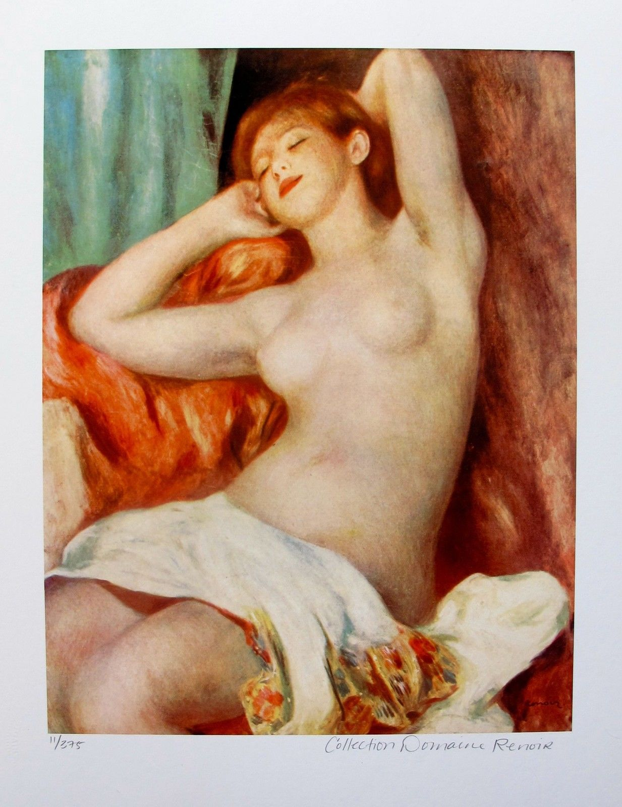 Pierre Auguste Renoir NUDE STUDY Estate Signed Small Giclee