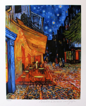 Vincent Van Gogh THE TERRACE CAFE Estate Signed Limited Edition Giclee