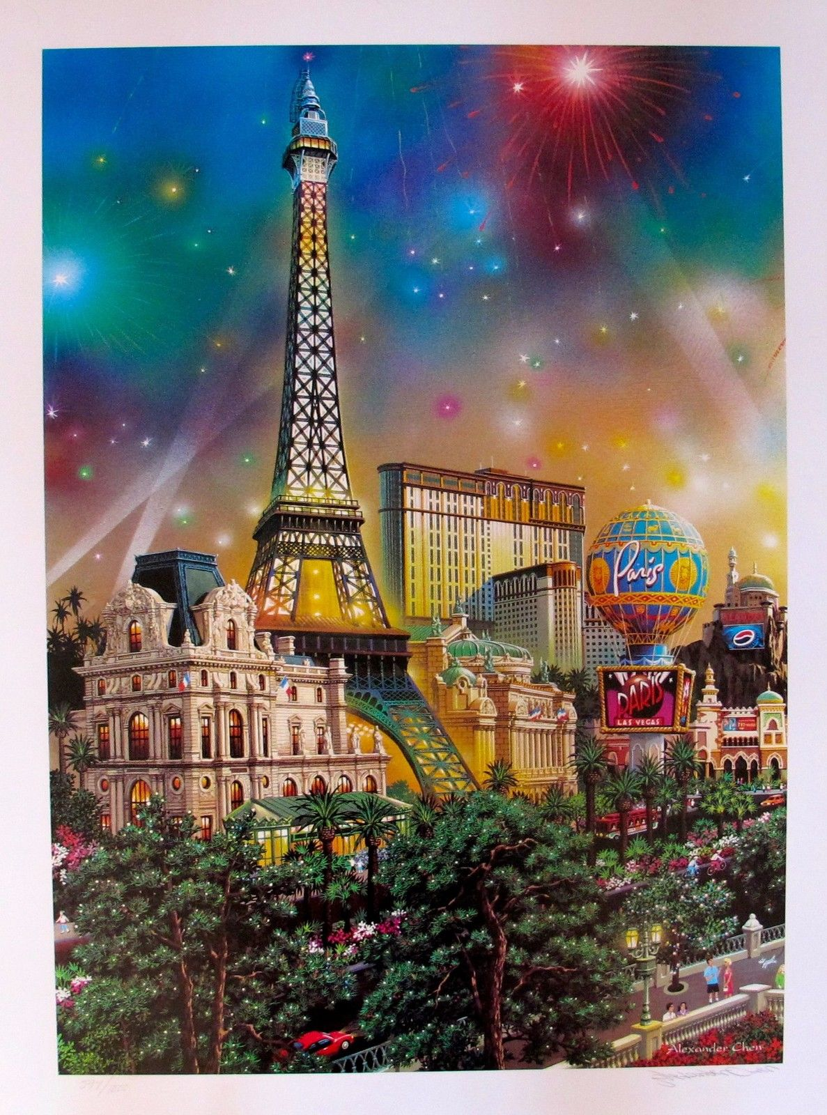 "ALEXANDER CHEN ""PARIS"" LAS VEGAS Hand Signed Limited Edition Lithograph"