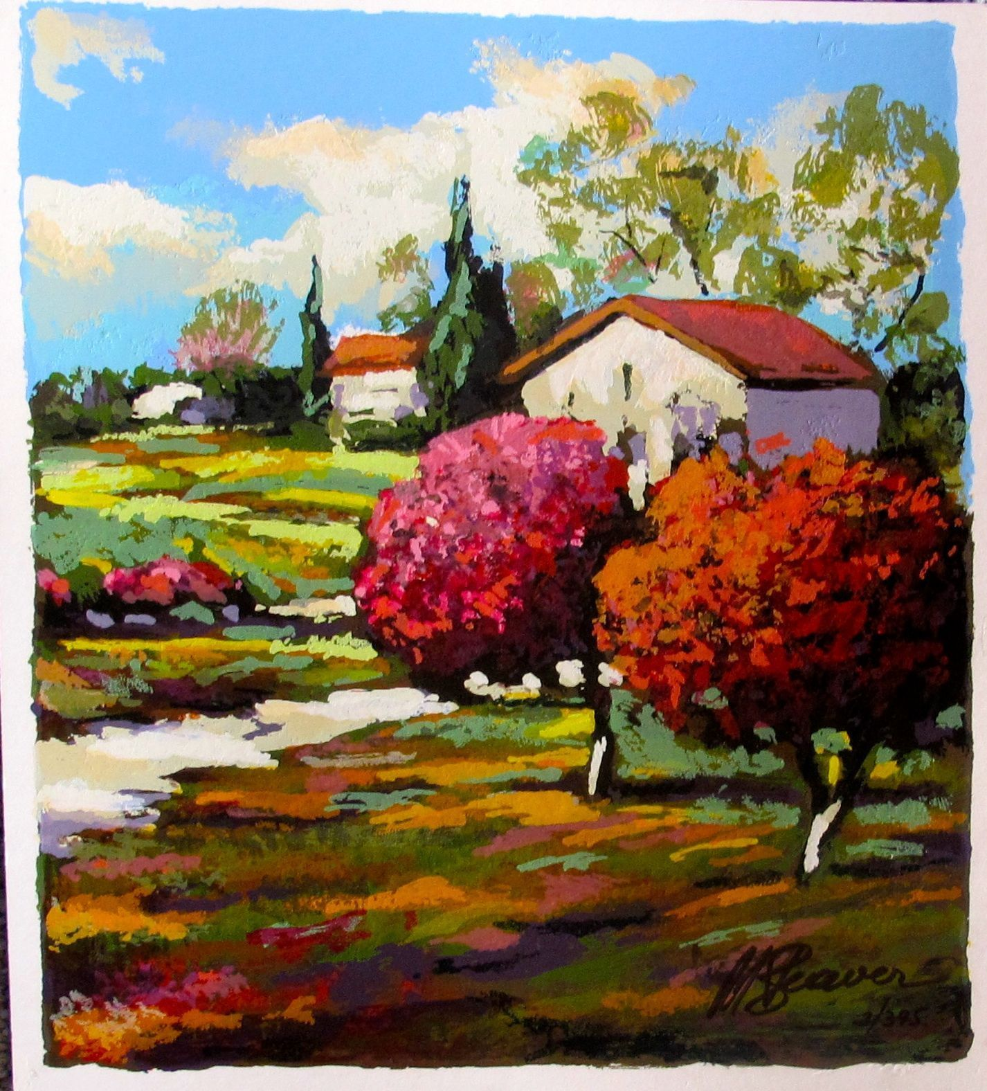 """MARK BRAVER """"BACKYARD TRAIL"""" Hand Signed Limited Edition Serigraph"""