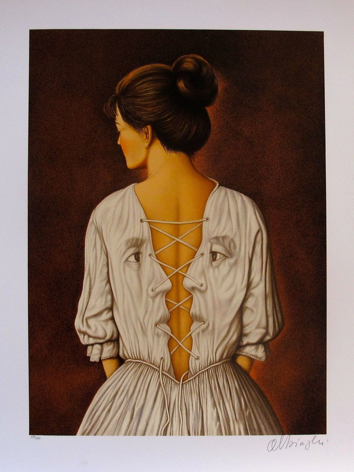 "RAFAL OLBINSKI ""SHE STOOPS TO FOLLY"" Hand Signed Limited Edition Serigraph"
