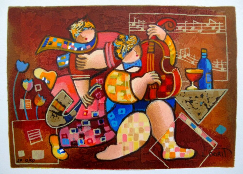 Dorit Levi MERRY MUSIC Hand Signed Limited Edition Serigraph