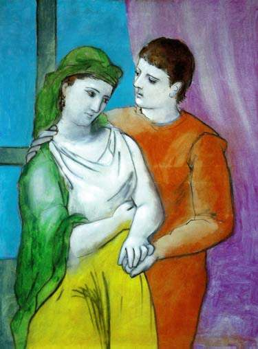 #80 THE LOVERS Pablo Picasso Estate Signed Giclee