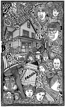 A CHRISTMAS STORY MOVIE Psychedelic Hand Signed Posterography Letterpress Art