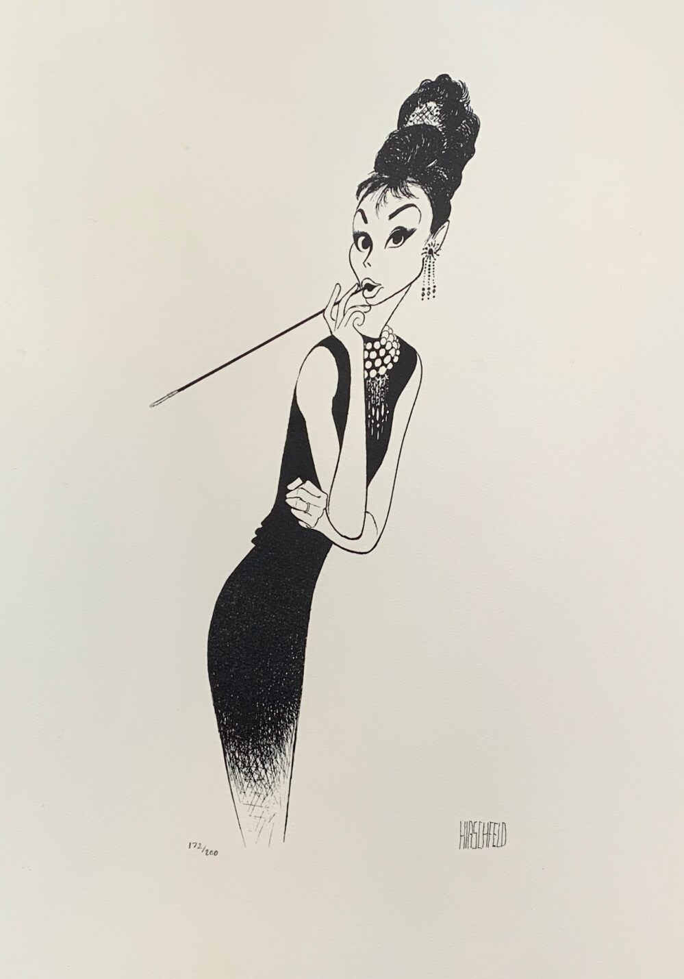AL HIRSCHFELD AUDREY HEPBURN Facsimile Signed Limited Edition Lithograph