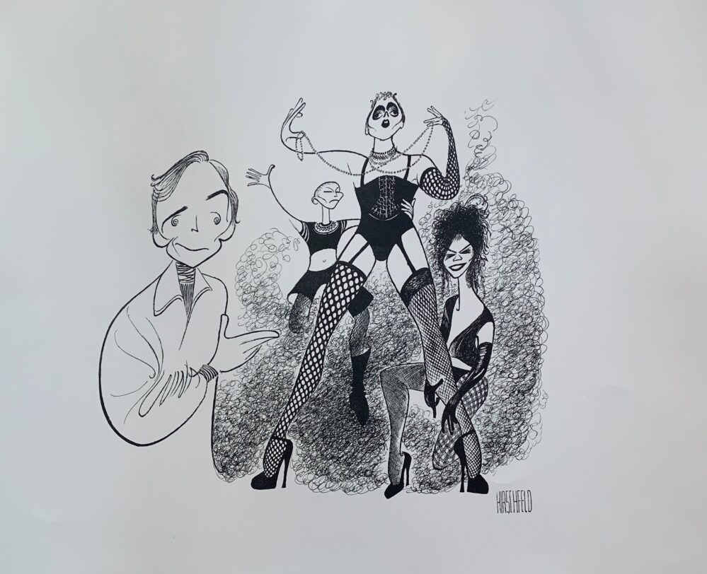 AL HIRSCHFELD ROCKY HORROR PICTURE SHOW Facsimile Signed Limited Edition Lithograph