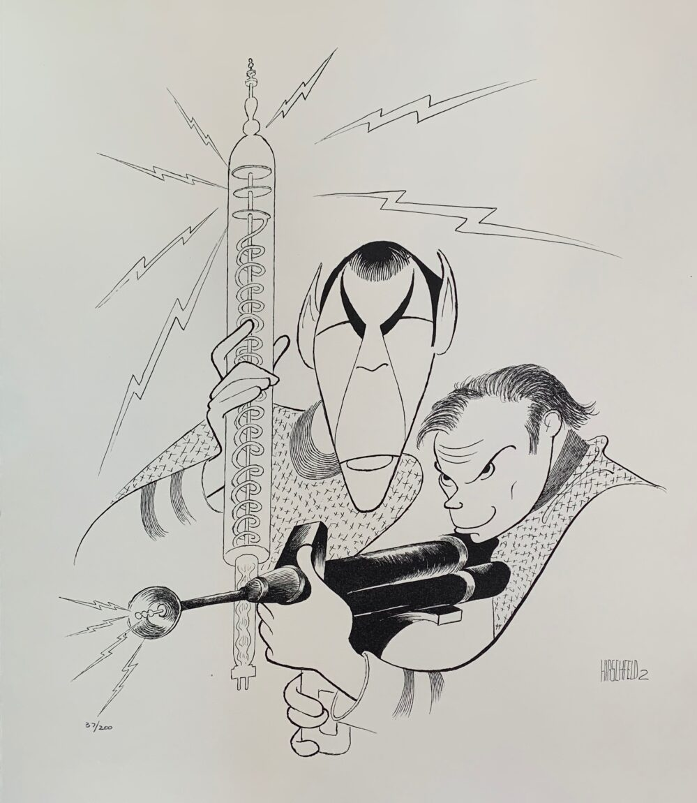 AL HIRSCHFELD SPOCK & KIRK STAR TREK Facsimile Signed Limited Edition Lithograph