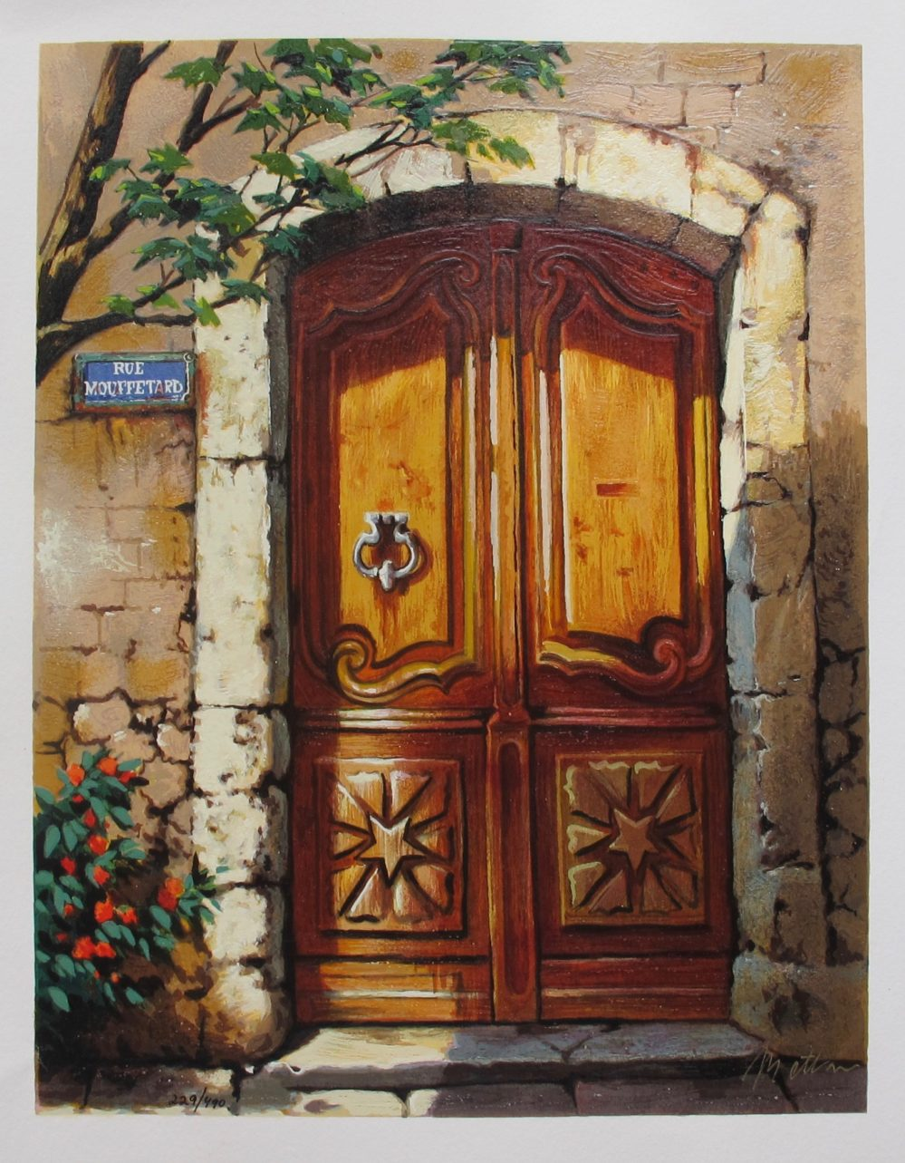 ANATOLY METLAN RUE MOUFFETARD Hand Signed Limited Edition Serigraph