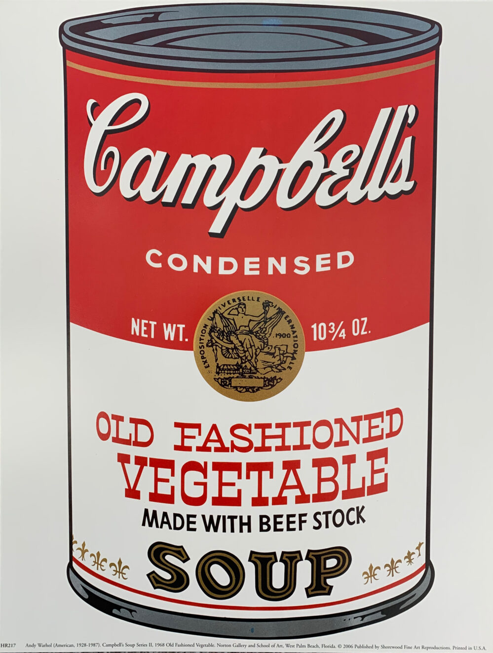 ANDY WARHOL Campbell's Vegetable Soup Can 2006 Art Print