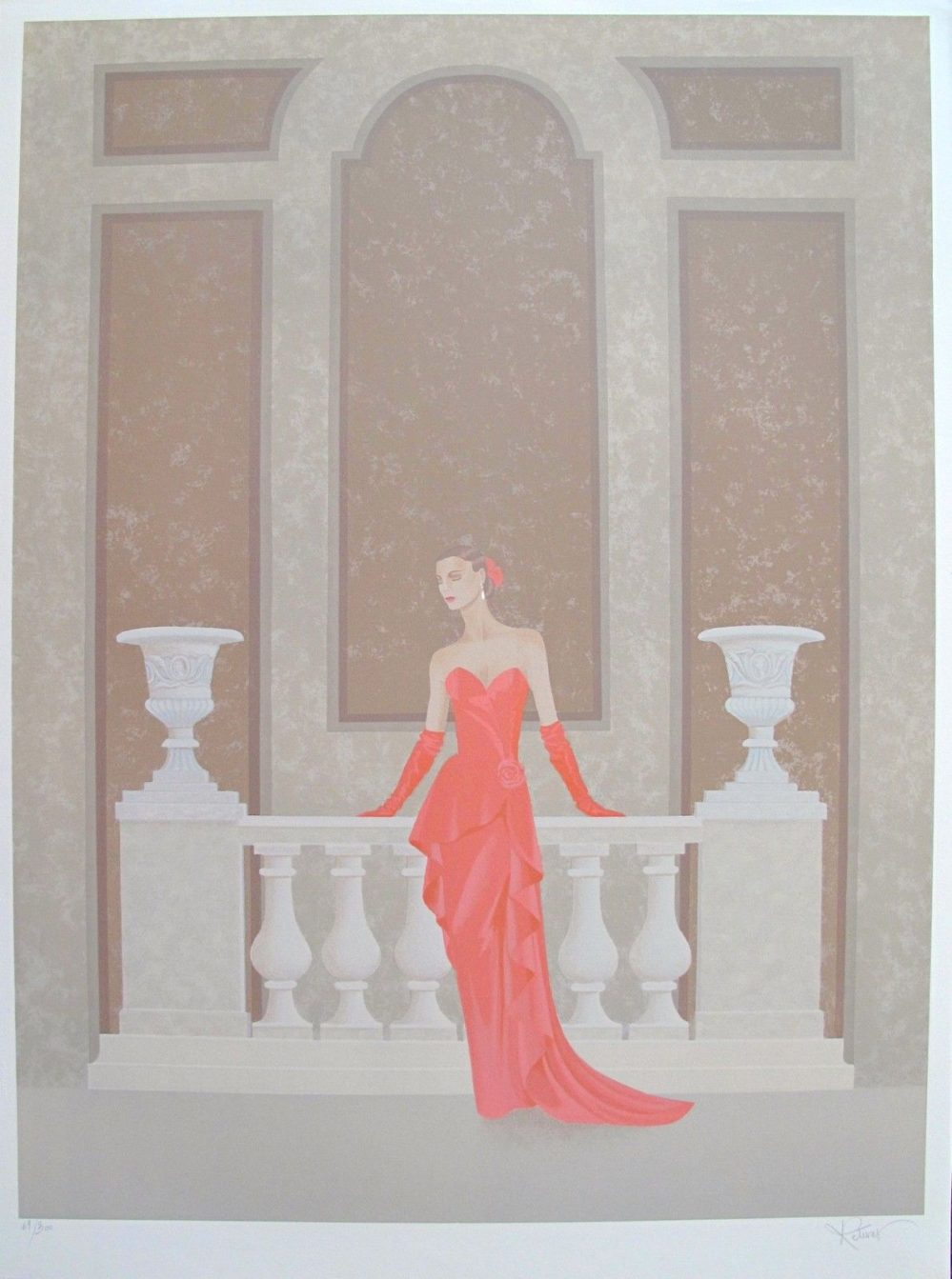 ANNIE RETIVAT L'ete Opera THE OPERA Hand Signed Limited Edition Lithograph