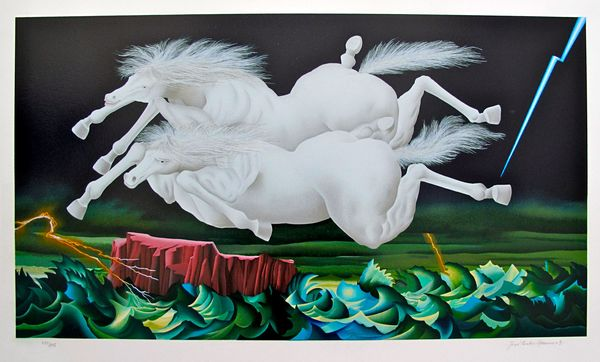 Jose Carlos Ramos ARRIVING TOGETHER Hand Signed Limited Ed. Serigraph