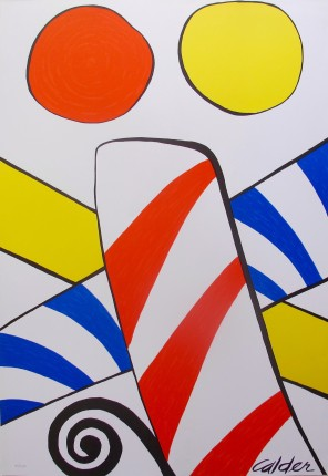 Alexander Calder CANDY CANE 1975 Plate Signed Lithograph