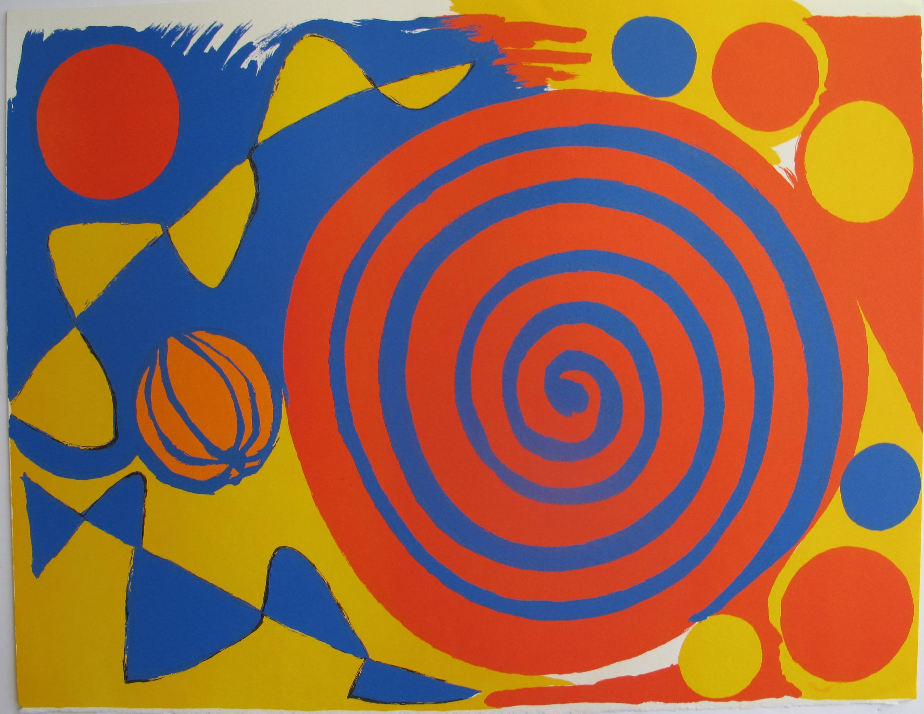 Alexander Calder SPIRALE AVEC CITROUILLE 1973 Lithograph