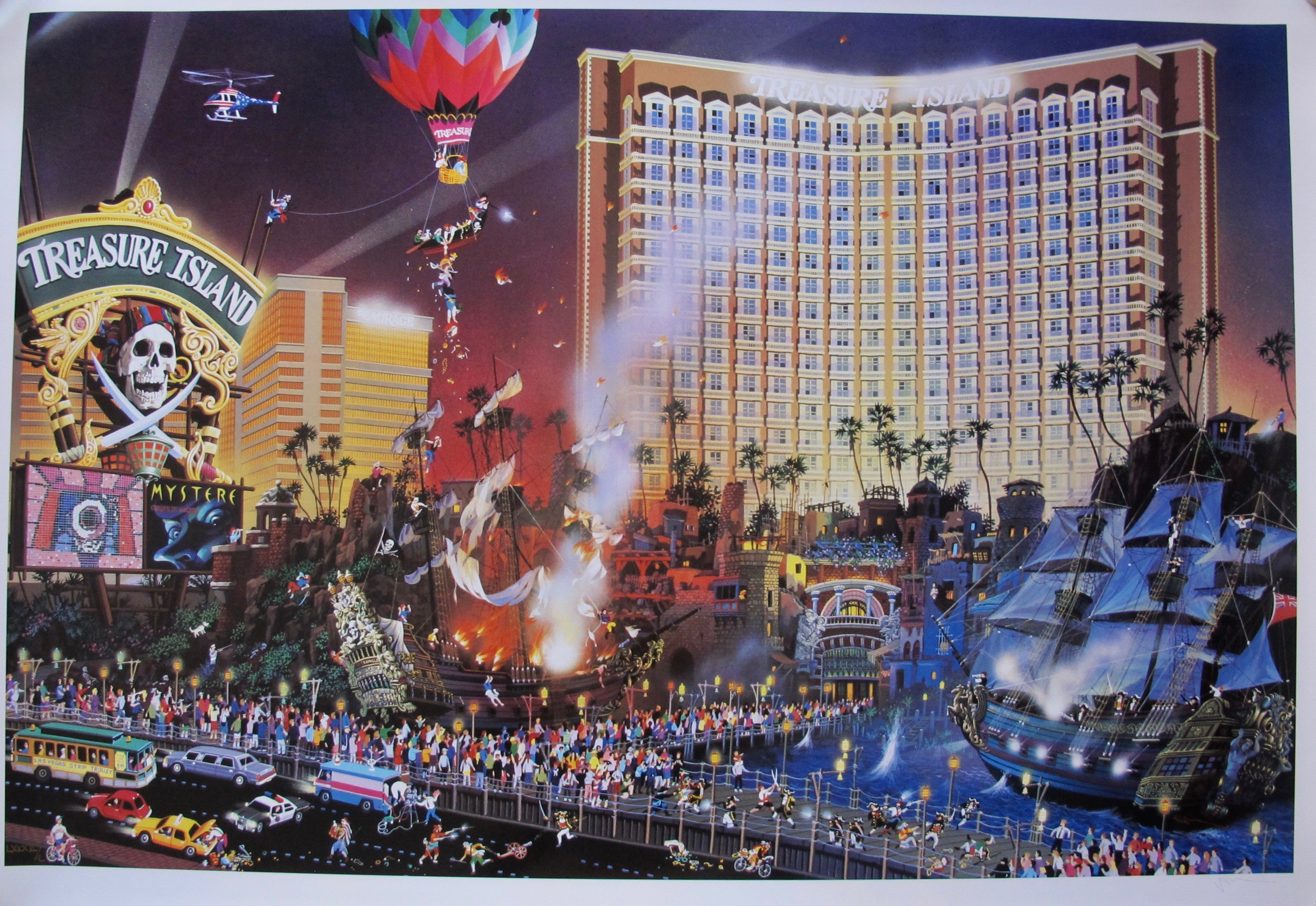 Alexander Chen THE GREAT ESCAPE Hand Signed Limited Edition Serigraph Las Vegas Art