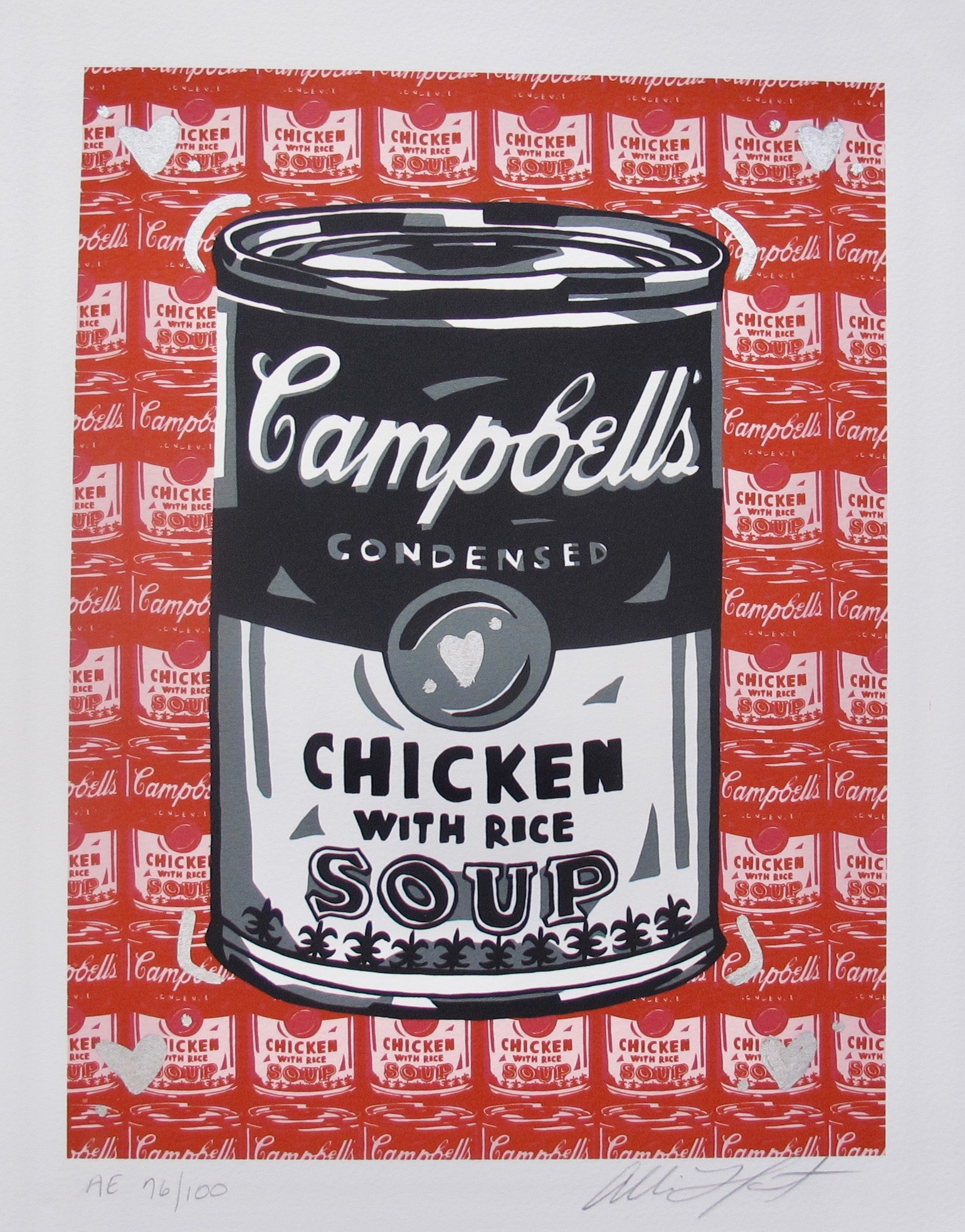 ALLISON LEFCORT CAMPBELL'S CHICKEN SOUP Hand Signed Limited Edition Lithograph