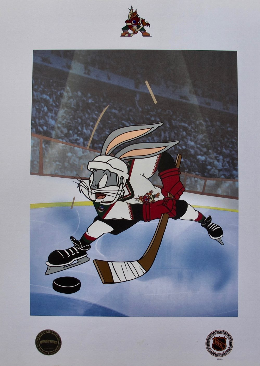 BUGS BUNNY ICE HOCKEY ARIZONA COYOTES Warner Bros Limited Edition Lithograph
