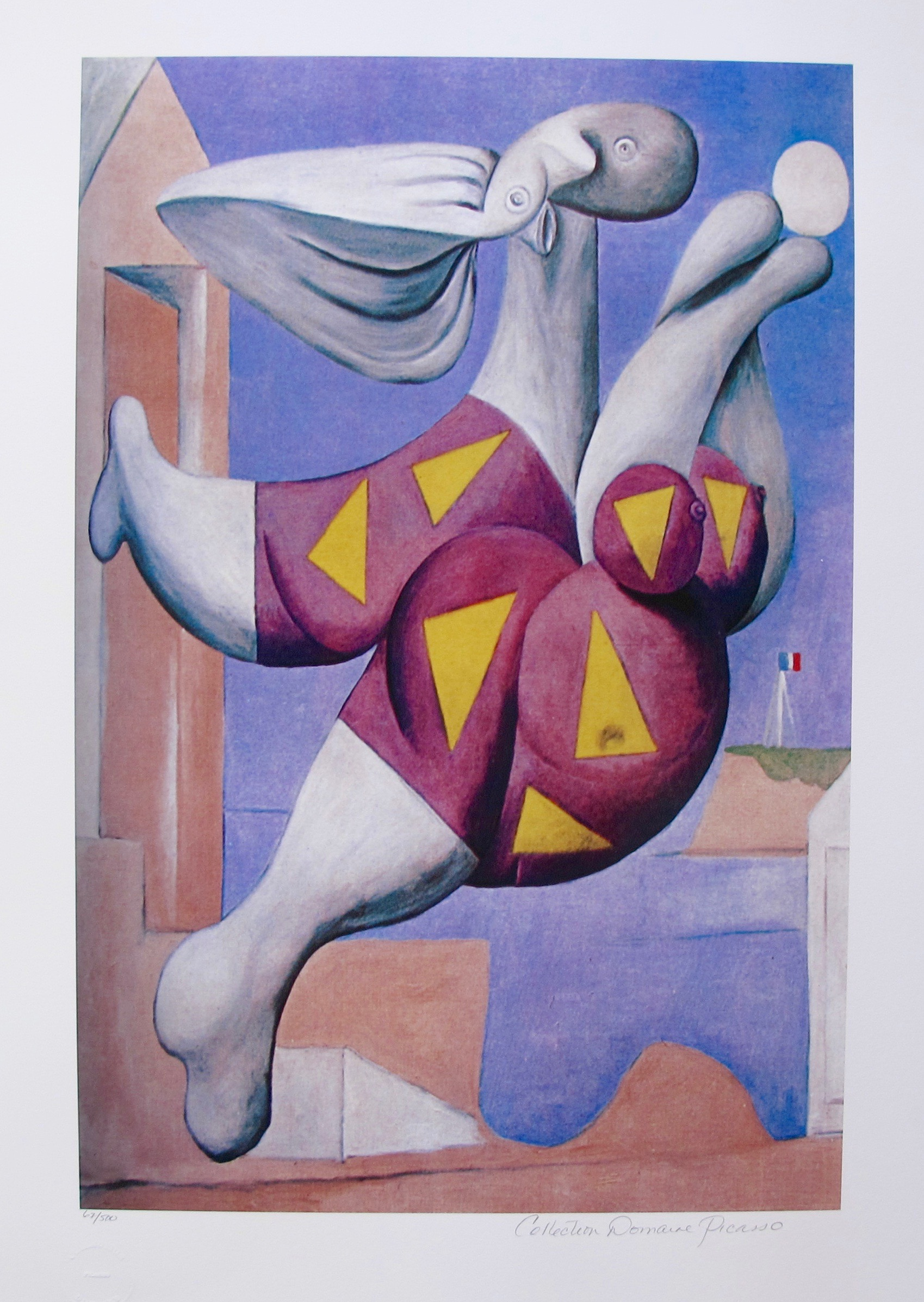 #19 BATHER WITH BEACH BALL Pablo Picasso Estate Signed Giclee