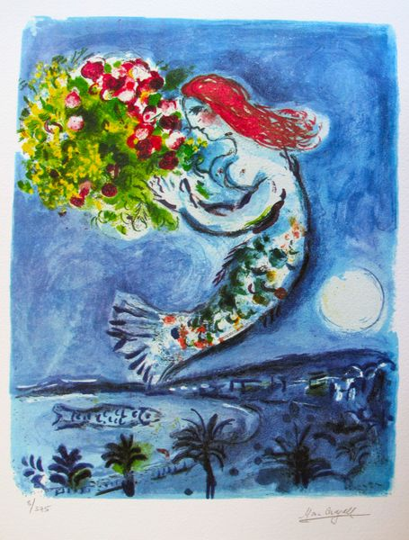 Marc Chagall BAY OF ANGELS Limited Edition Facsimile Signed Small Giclee