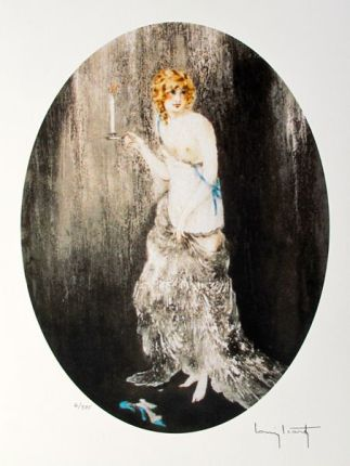 Louis Icart BEDTIME Facsimile Signed Limited Edition Giclee Small