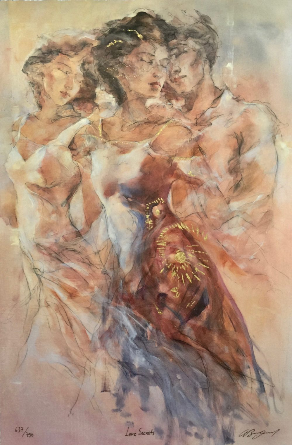 Gary Benfield LOVE SECRETS Hand Signed Limited Edition Serigraph