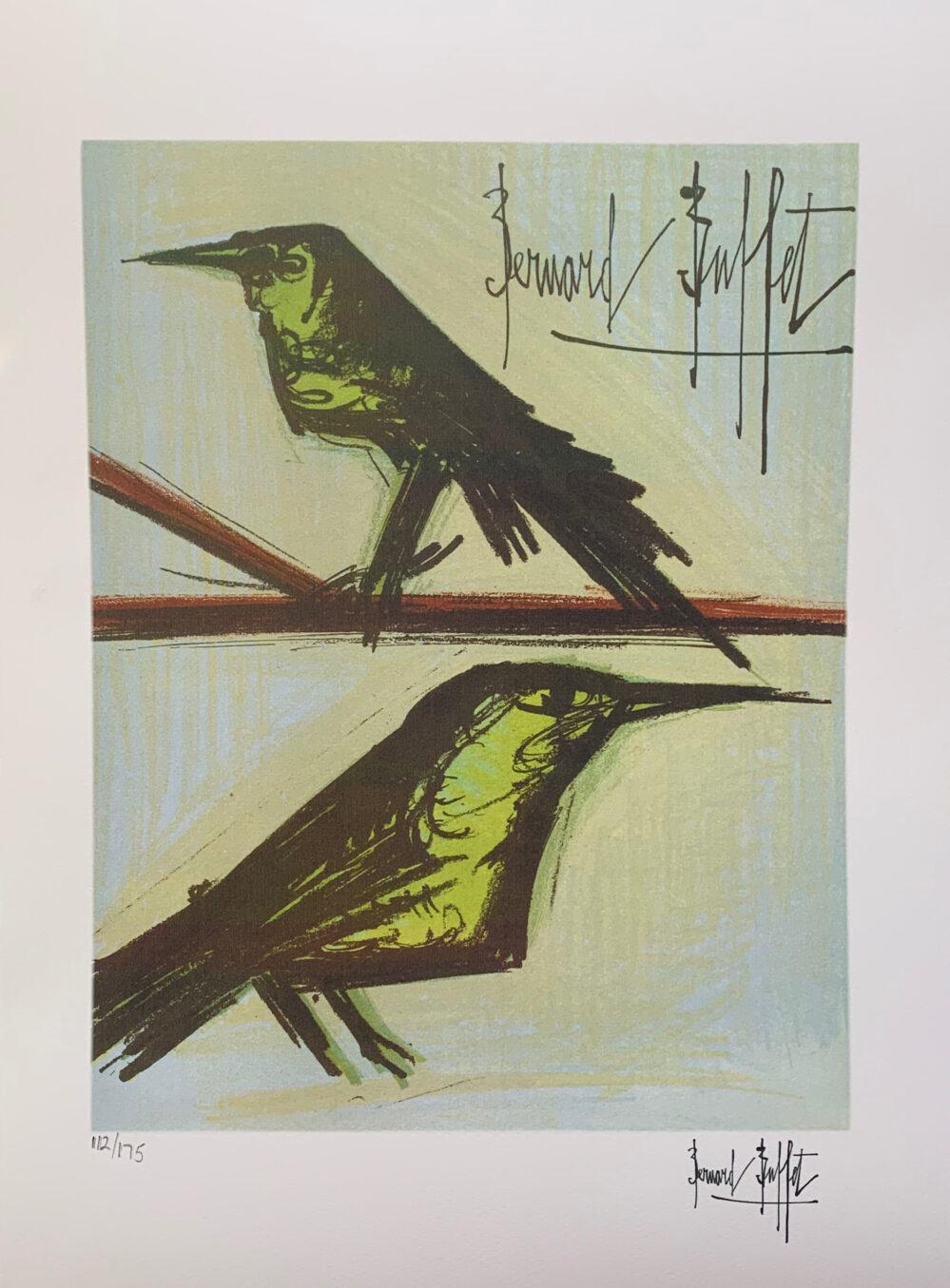 Bernard Buffet BIRDS Facsimile Signed Limited Edition Giclee