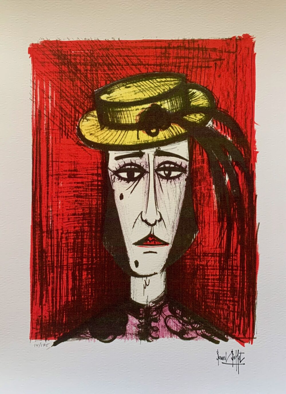 Bernard Buffet IN FANCY DRESS Facsimile Signed Limited Edition Giclee