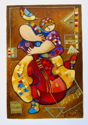 Dorit Levi BLUES II Hand Signed Limited Edition Serigraph