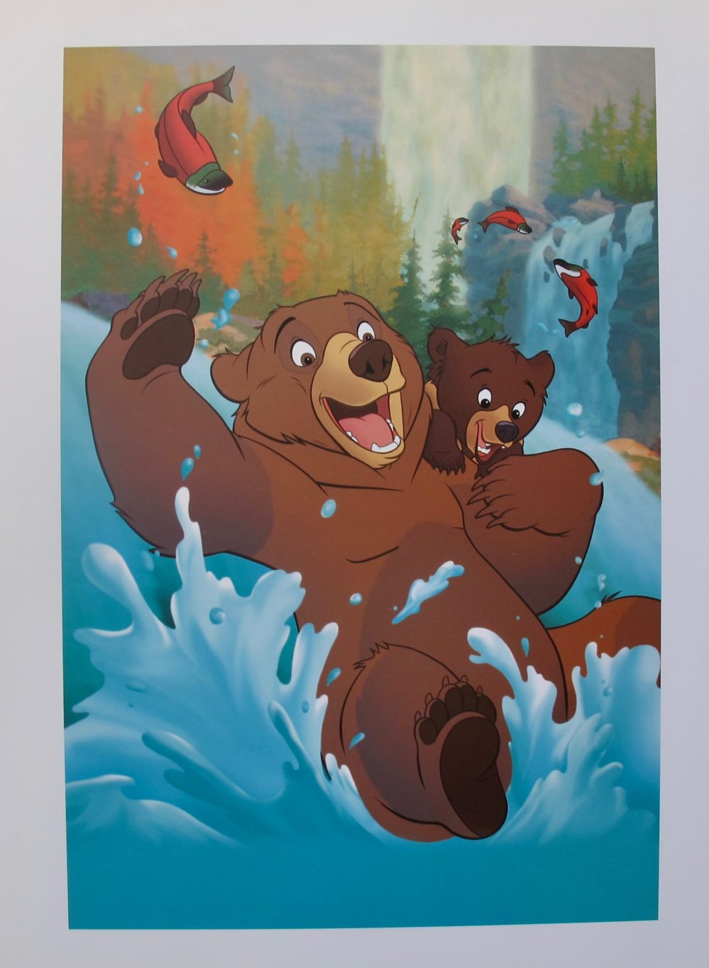 DISNEY BROTHER BEAR KENAI and KODA FISHING Offset Lithograph