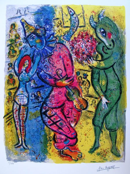 Marc Chagall CIRCUS II Limited Edition Facsimile Signed Small Giclee