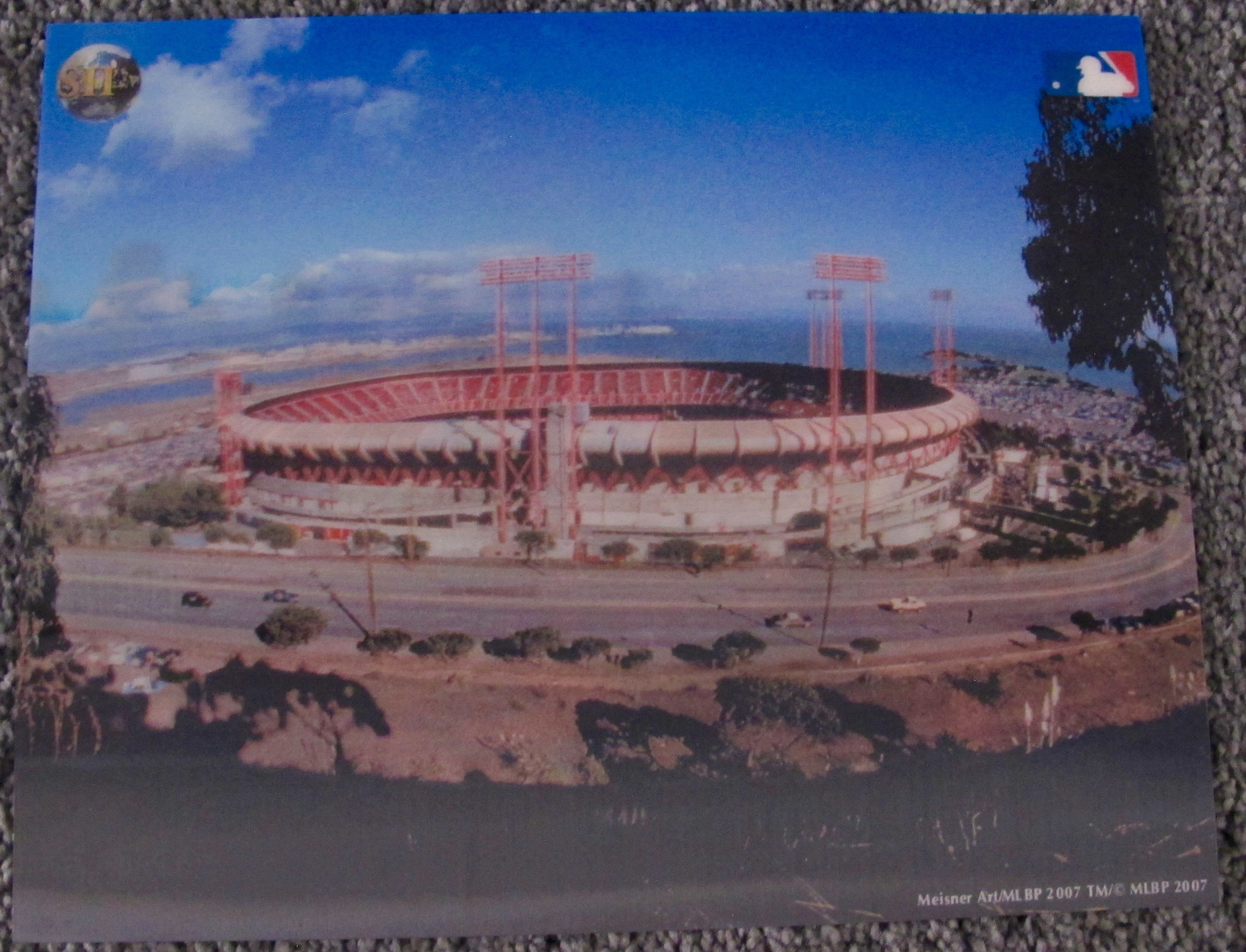 CANDLESTICK PARK SAN FRANCISCO GIANTS 3-D HOLOGRAM PHOTO