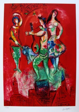 Marc Chagall CARMEN Limited Edition Facsimile Signed Small Giclee
