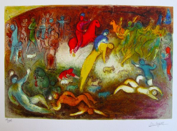 Marc Chagall CHLOE IS CARRIED OFF BY THE METHYMNAENS Limited Ed. Small Giclée