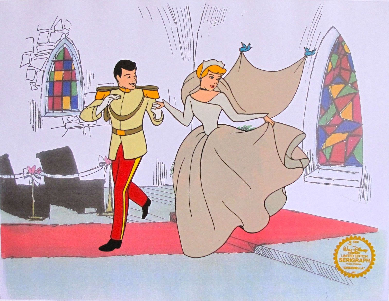 Disney CINDERELLA Original Serigraph Cel Animation Art Sericel