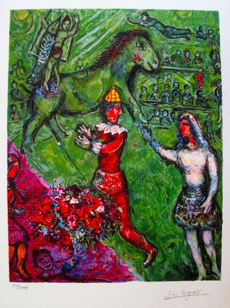 Marc Chagall CIRCUS VERDE Limited Edition Facsimile Signed Small Giclee