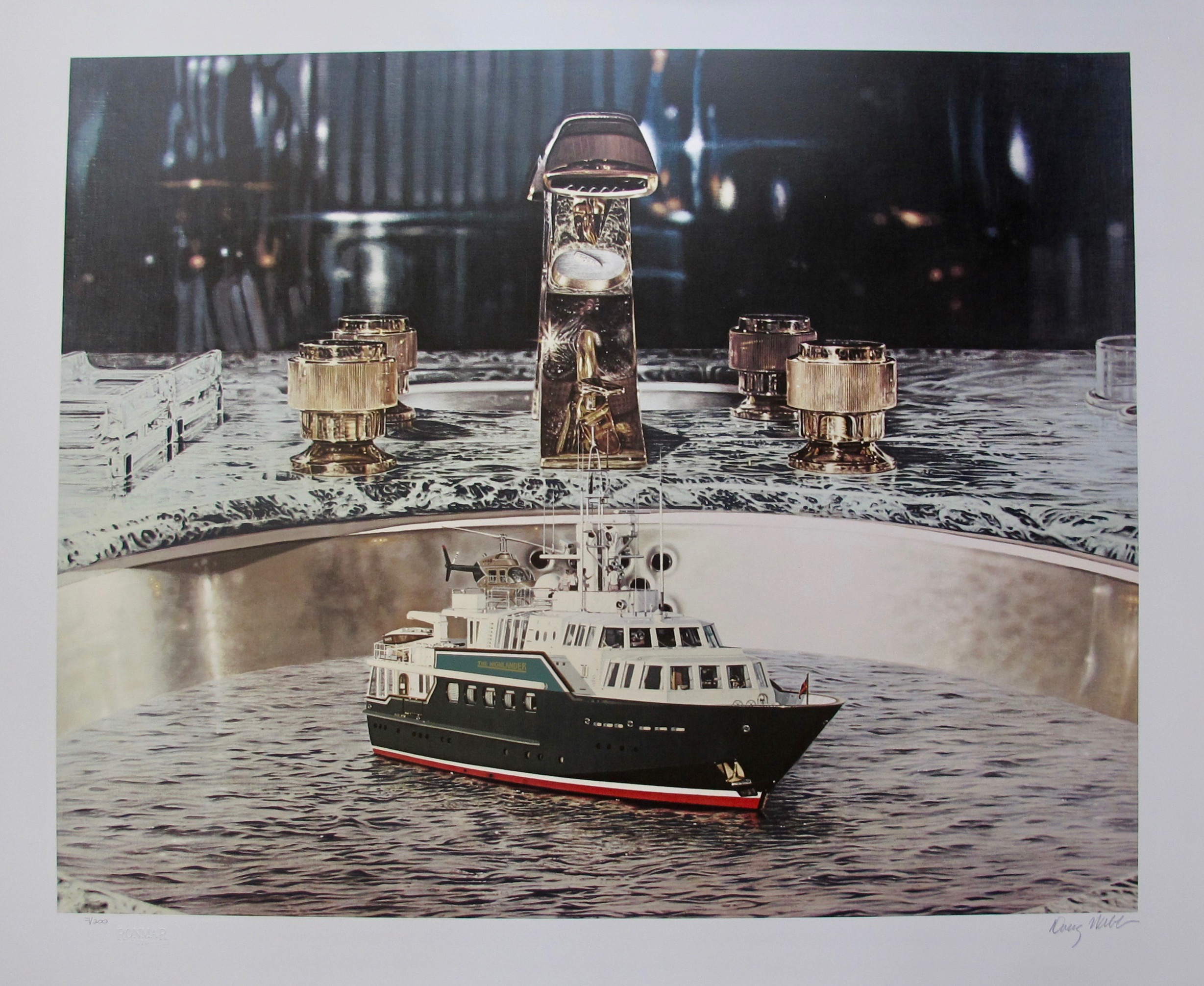 DOUG WEBB Yacht in Cold Running Water Hand Signed Limited Edition Silkscreen