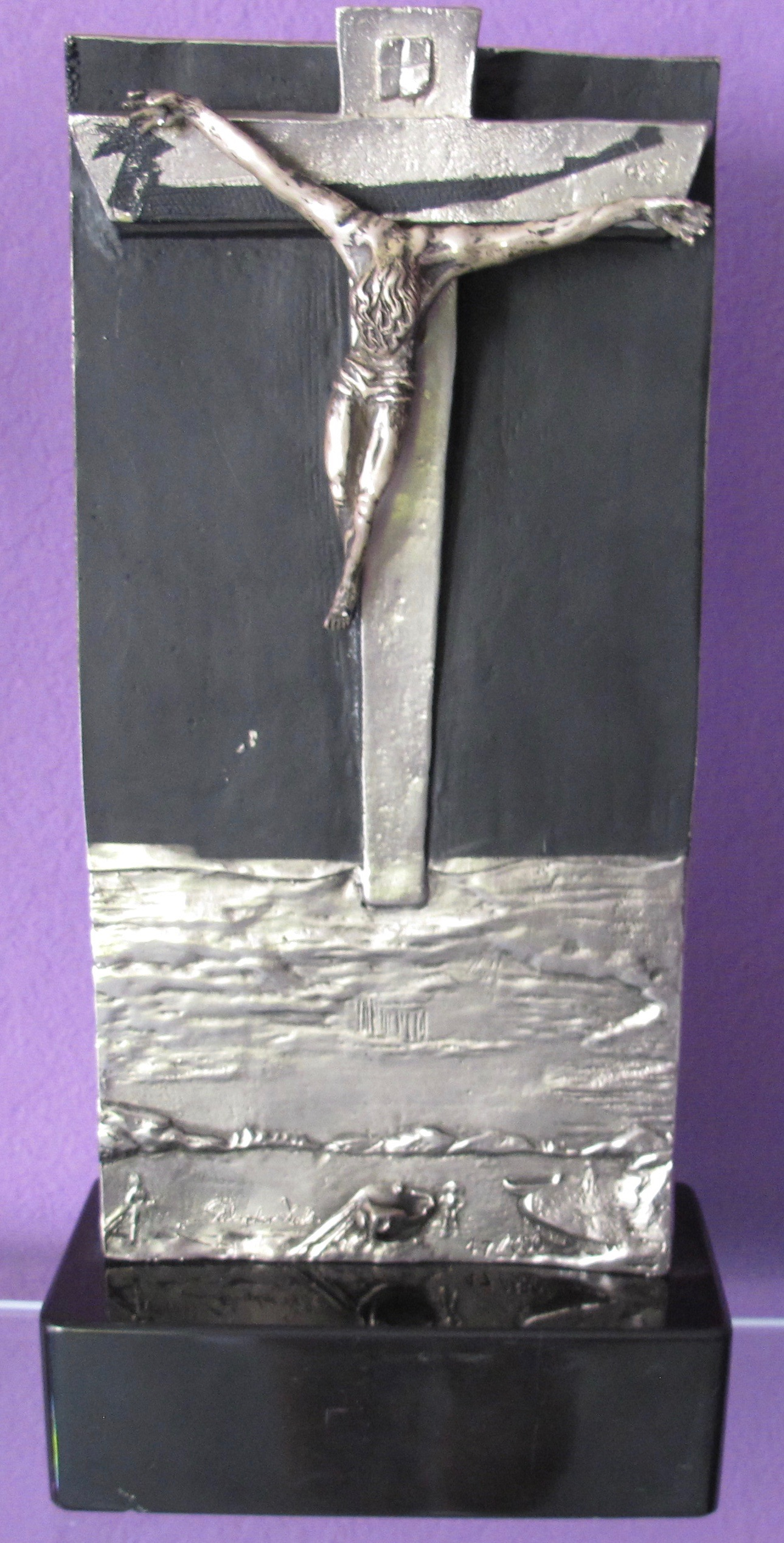 SALVADOR DALI SIGNED 1984 Christ of St John of the Cross Bronze Sculpture