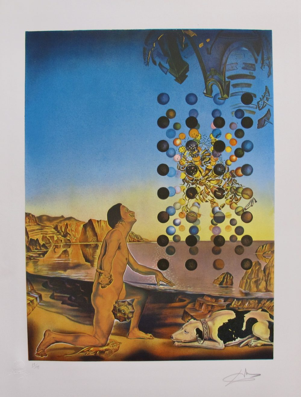 SALVADOR DALI CONTEMPLATION Hand Signed & Stamped Limited Edition Lithograph