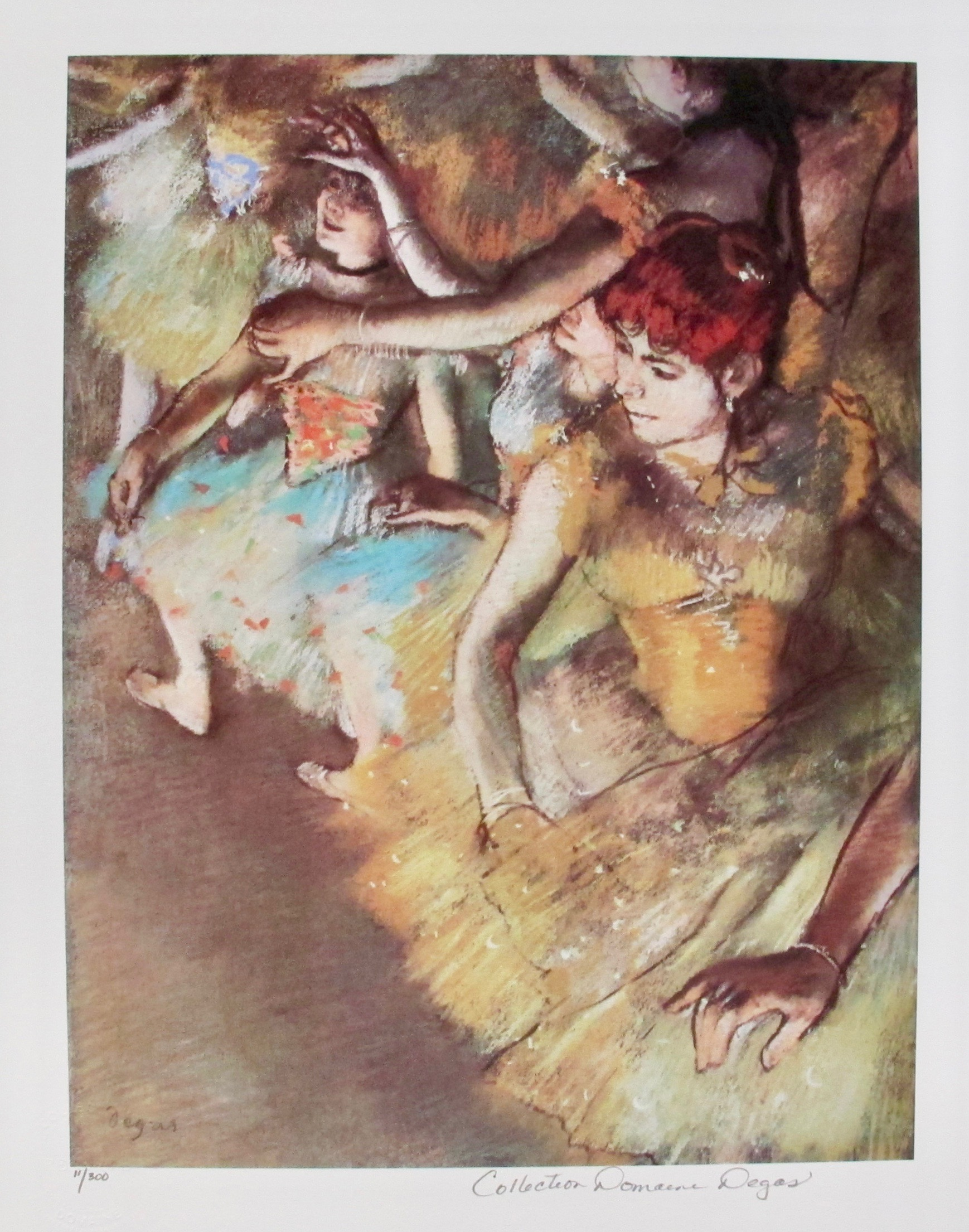 EDGAR DEGAS BALLET DANCERS Estate Signed Limited Edition Giclee