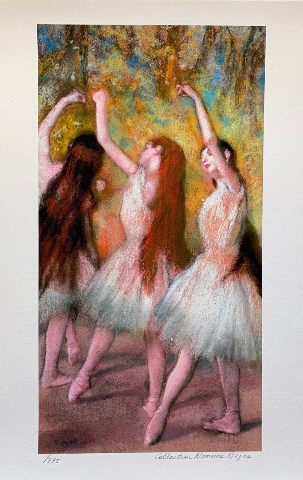 EDGAR DEGAS DANCERS IN GREEN Estate Signed Limited Edition Giclee