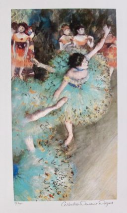 EDGAR DEGAS GREEN DANCER Estate Signed Limited Edition Giclee