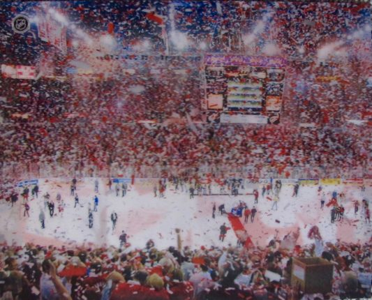 DETROIT RED WINGS STANLEY CUP CHAMPS 2002 3-D HOLOGRAM PHOTO MEISNER ART NHL