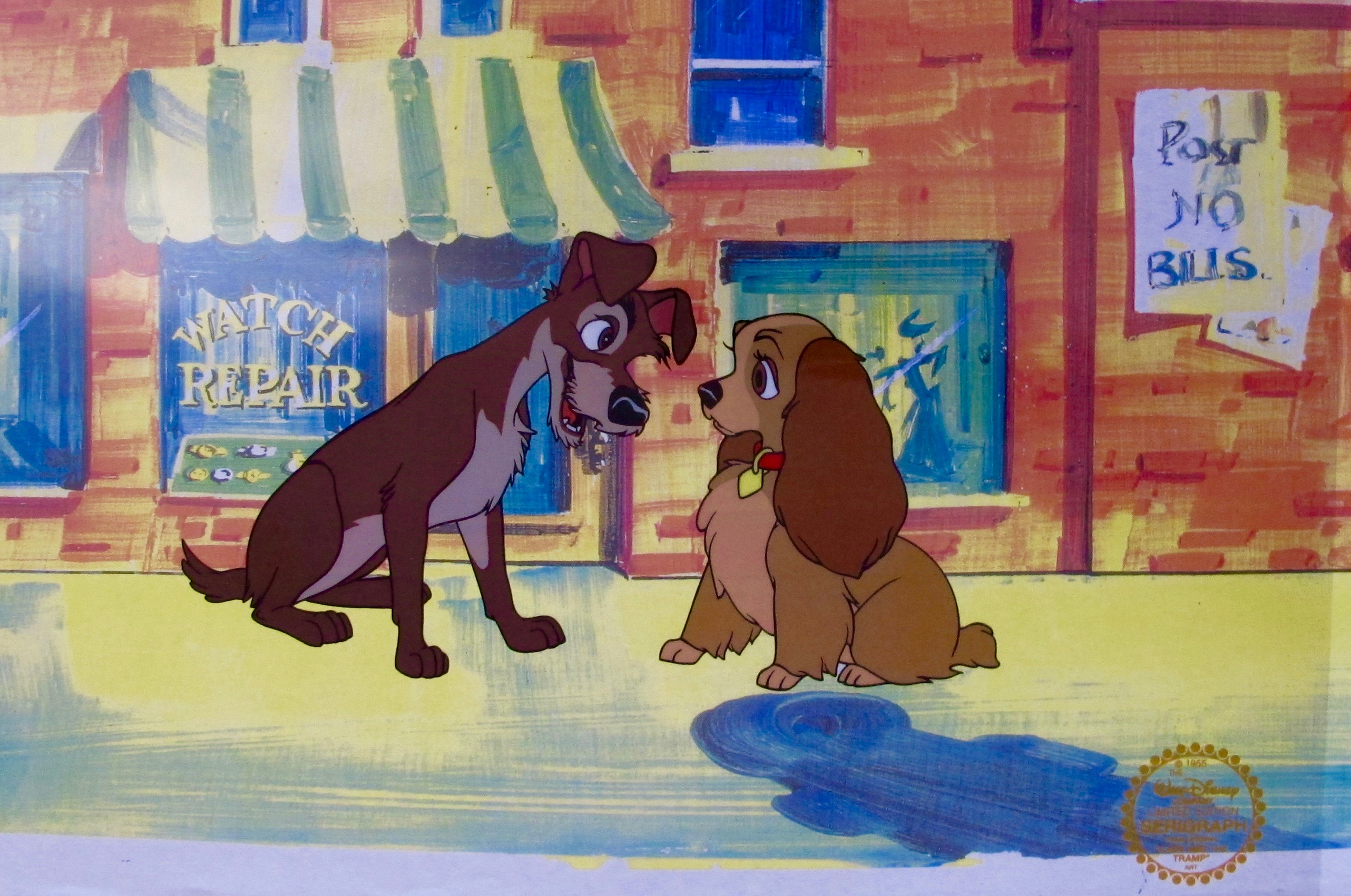 DISNEY LADY AND THE TRAMP Animation Art Sericel Cel