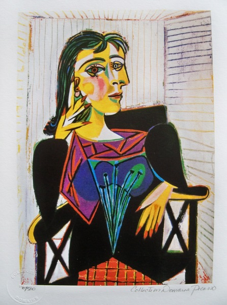 Pablo Picasso DORA MAAR Estate Signed Limited Edition Small Giclee