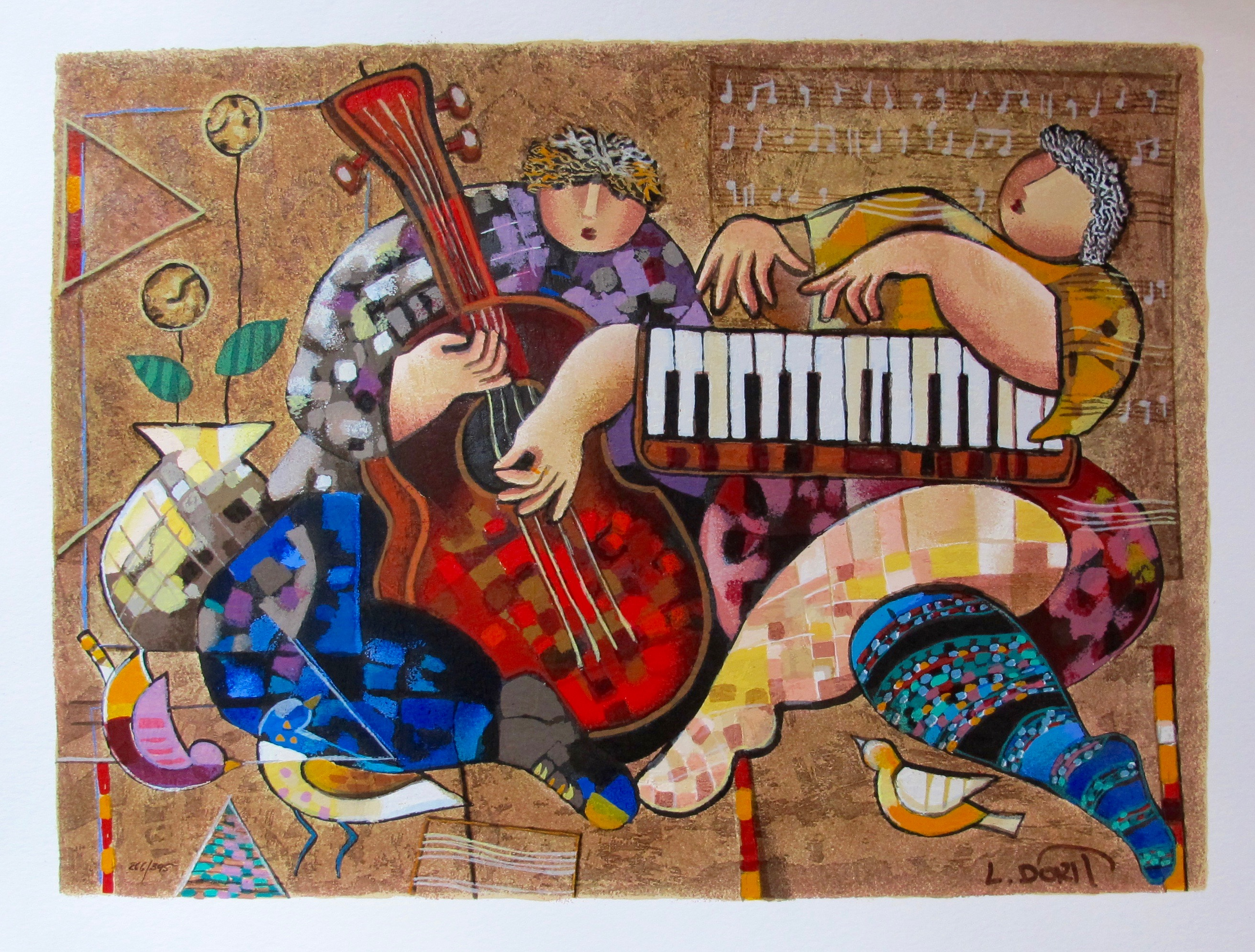 DORIT LEVI FOLKLORE Hand Signed Limited Edition Serigraph