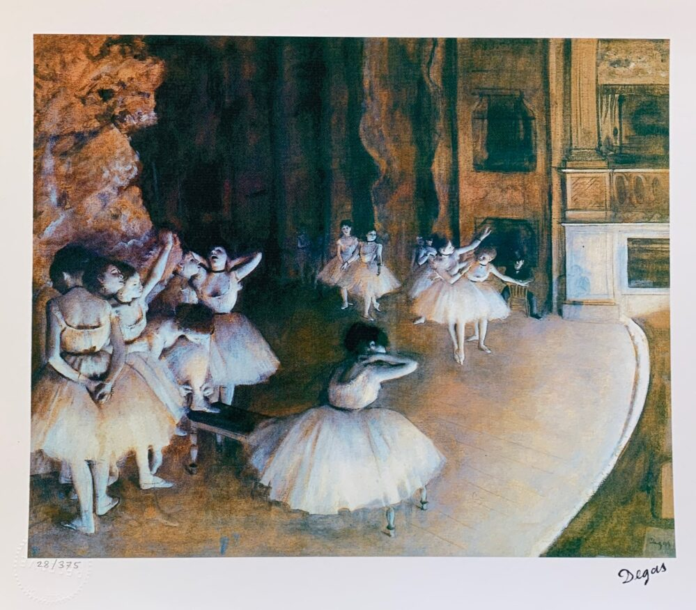 EDGAR DEGAS Ballet Rehearsal Limited Edition Giclee
