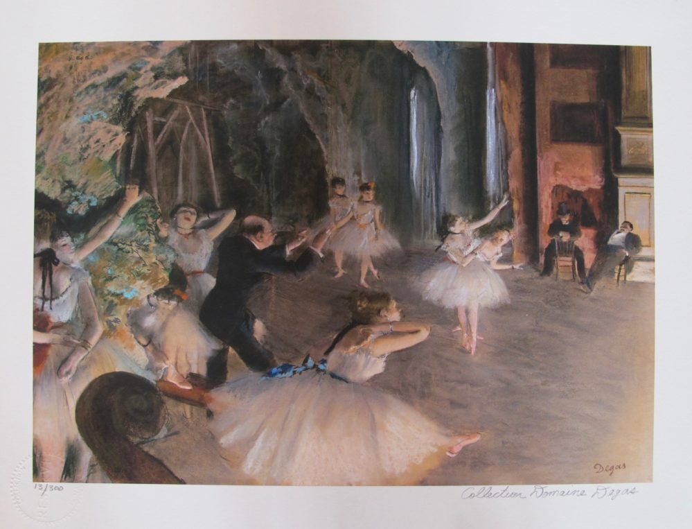 EDGAR DEGAS The Ballet Rehearsal Estate Signed Limited Edition Giclee